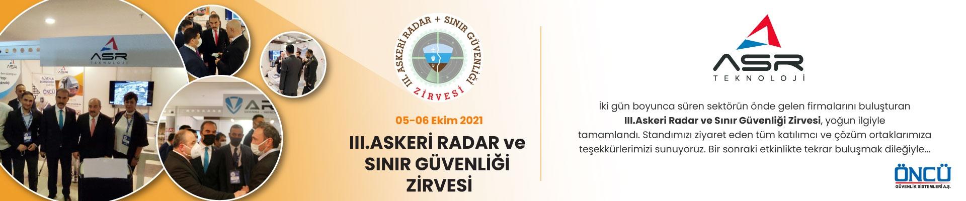 III.Askeri Radar ve Sınır Güvenliği Zirvesi