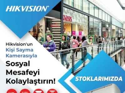 Hikvision'un Kişi Sayma Kamerasıyla Sosyal Mesafeyi Kolaylaştırın!