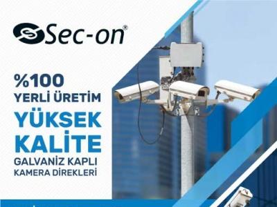 %100 Yerli Üretim, Yüksek Kalite, Galvaniz Kaplı Kamera Direkleri!..