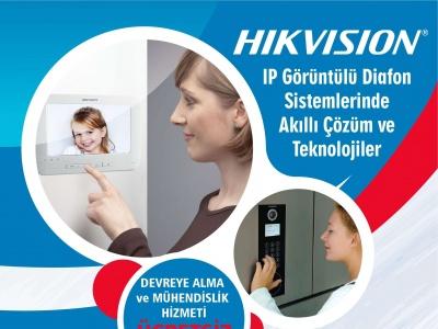 Hikvision Görüntülü Diafon Sistemlerinde Size Özel Hizmetler !..