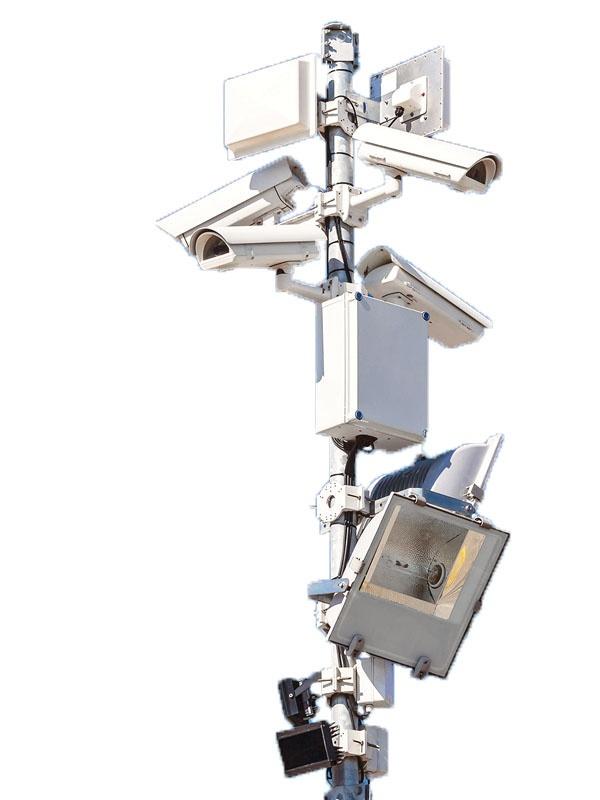 SC-KD8-2-8m Sıcak Daldırma Galvaniz Kaplı Poligon Kamera Direği