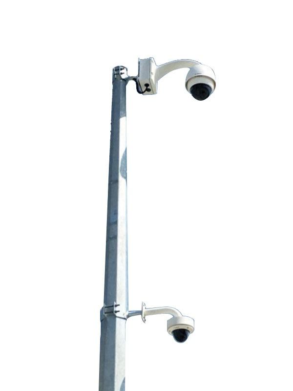 SC-KD8-3-8m Sıcak Daldırma Galvaniz Kaplı Poligon Kamera Direği