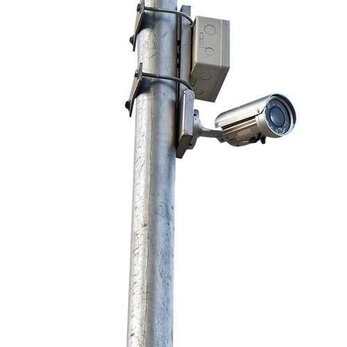 6m Sıcak Daldırma Galvaniz Kaplı Boru Tipi Kamera Direği