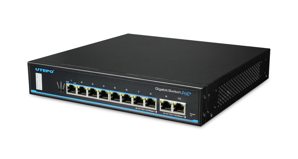 UTP3-GSW0802T-POE- 8 Port Gigabit PoE Ethernet Switch