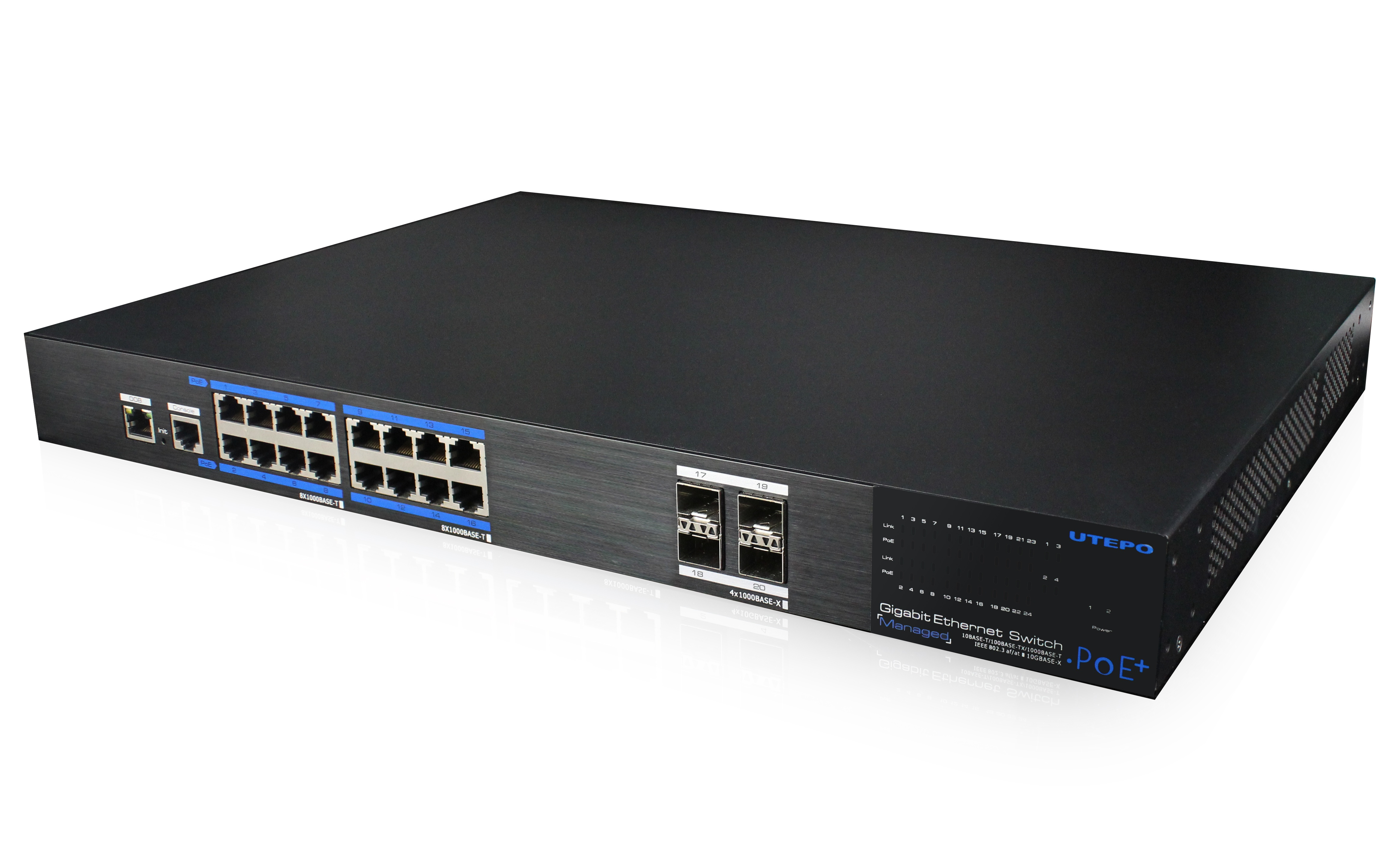 UTP7516GE-POE-4GF-16 Gigabit PoE Ports Managed Ethernet Switch