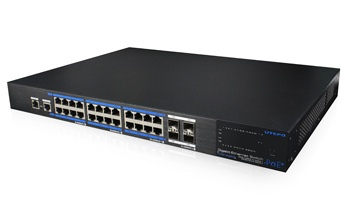 UTP7524GE-POE-4GF-24 Ports PoE Full Gigabit Managed Ethernet Switch