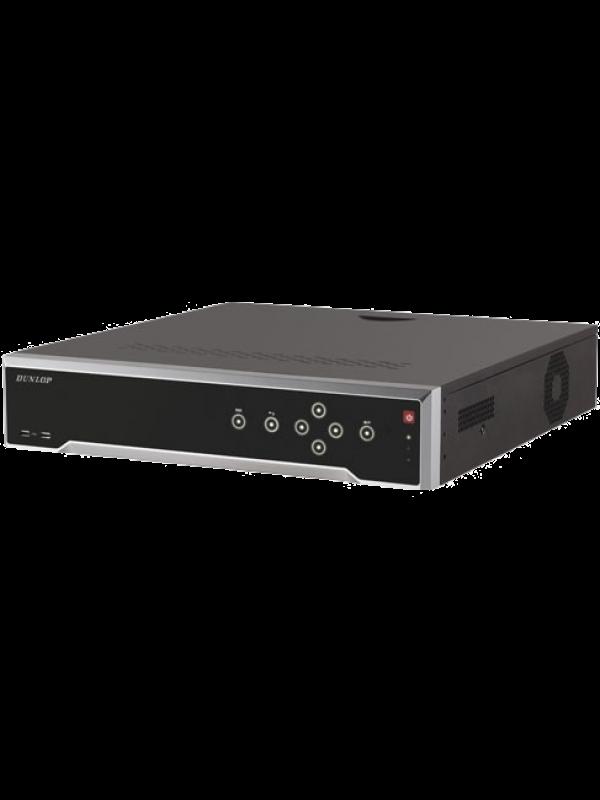 Dunlop 64 Kanal NVR, 8 SATA Portu DP-8664NI-I8