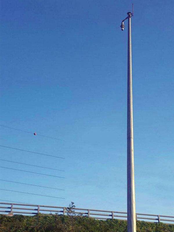 Sec-on 8 metre Sıcak Daldırma Galvaniz Kaplı Poligon Kamera Direği SC-KD8-1